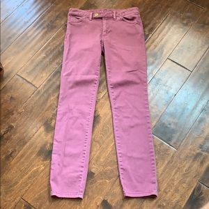 Tory Burch Connor Tab Front Super Skinny Jeans